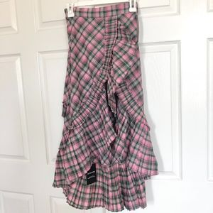 Skirts - Green and pink ruffle skirt